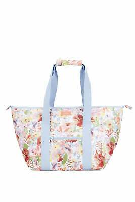 Joules Picnic Carrier Bag Printed and Fully Insulated - White Floral