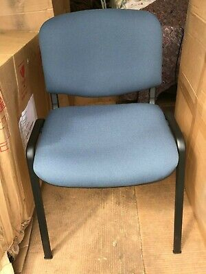 """SET of 6 BLUE """"Concerto """"MULTI PURPOSE STACKING DINING/MEETING CHAIRS"""