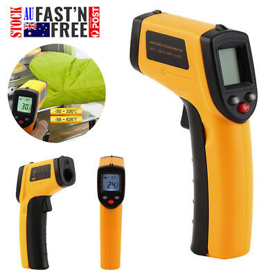 Portable Non-Contact LCD IR Laser Infrared Digital Temperature Thermometer Green