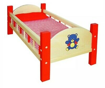 Fun Factory Wooden Doll's Bed. RRP $70. New.