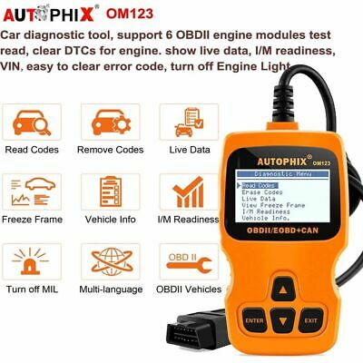 Car OBD2 EOBD Code Reader Scanner Diagnostic Scan tool Error Engine check OM123