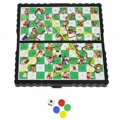 Snakes and Ladders Board Portable Pocket Games Mini Magnetic Plastic Travel