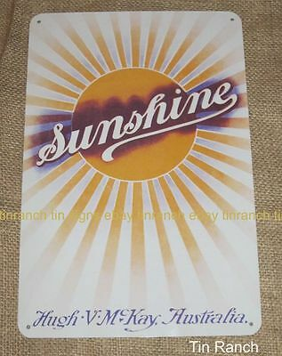 SUNSHINE HARVESTER TIN SIGN new HV McKAY Australian farm vintage tractor farmer