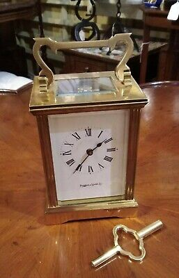 Antique carriage clock by Mappin and Webb, eight day, non striking,