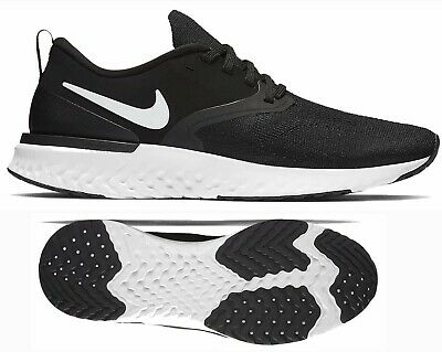 ce5acc35a157 New NIKE Odyssey React 2 Flyknit Men s Running Shoes black white all sizes