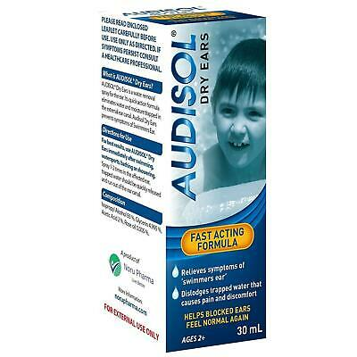Audisol Dry Ears - Helps Removes Trapped Water 30ml