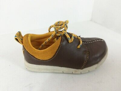 2cbd7e31f39 Clark's 'first shoes' boys brown/mustard leather shoes size 5.5G UK infant
