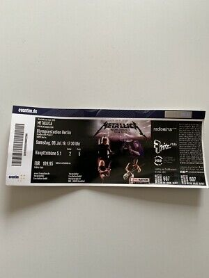 Metallica Ticket Berlin Haupttribüne 6.7.19