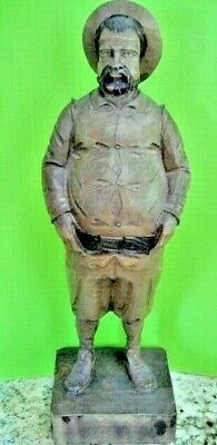 Vintage Ouro Artesania Carved Wooden Figure Portly Gentleman Spain #703/2