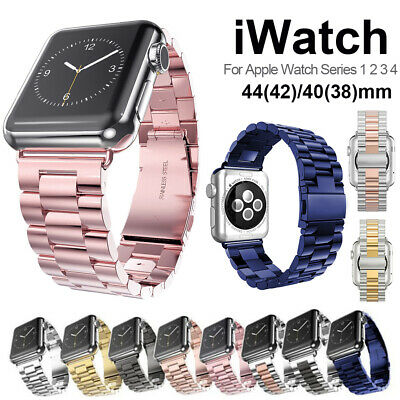 Metal Stainless Steel Watch Band Strap For Apple Watch Series 4 3 38/42/44/40mm