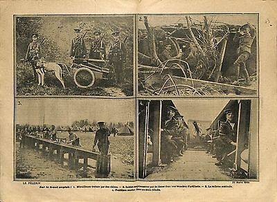 la Somme Tommies British Army Machine Gun Soldiers Trench WWI 1915 ILLUSTRATION