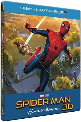 SPIDER-MAN : HOMECOMING STEELBOOK[Blu-ray 3D + Blu-ray + Digital HD] - NEUF