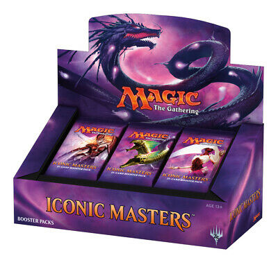 Magic The Gathering MTG Iconic Masters English Booster Box Factory Sealed x1