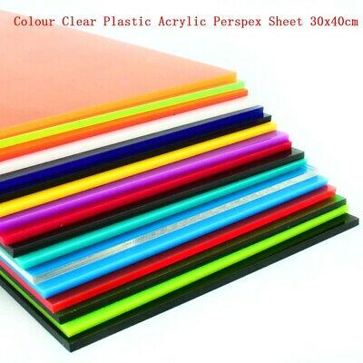 1pcs Colour Clear Plastic Perspex Acrylic Sheet 8x8cm Thickness 2.3mm