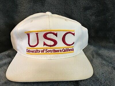 daa82956fb9f48 Usc trojans Snapback Hat 90s Vintage southern California Football The Game  hat