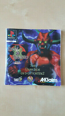 Dungeons & Dragons Iron & Blood manual - Sony PlayStation PS1