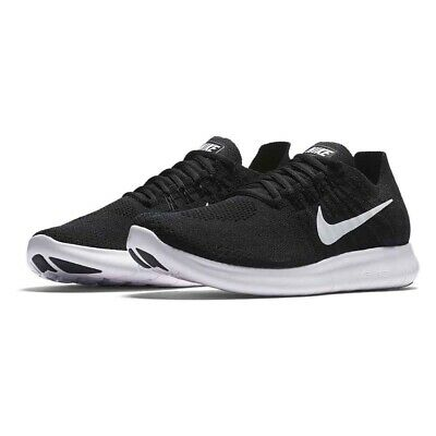 quality design 57466 dce89 Nike Free RN Flyknit 2017 Black White Men Size 6.5 Running Trainers 880843  001