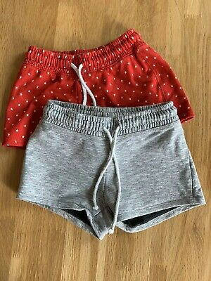 Next Girls Shorts Age 7 Jogging Pants Red Star And Grey