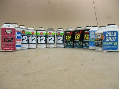 12 Cans of R12 Automotive Refrigerant 12 oz and 14 oz  Unused!