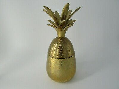 petit ananas en laiton design vintage small brass pineapple