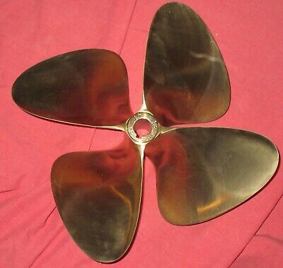 "OJ Force 13 x 13 Nibral Inboard Propeller Right Hand 4 Blade 1"" Bore"