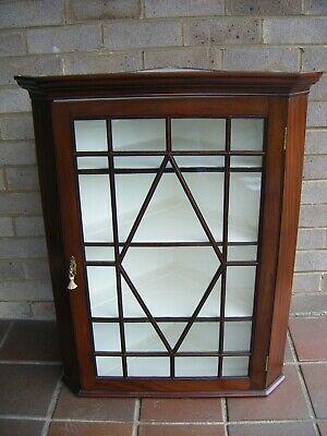 Georgian Mahogany Glazed Corner Cupboard.