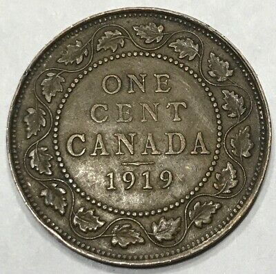 1919 Canada Large Cent - Higher Grade - King George V - Canada - Large - 1c