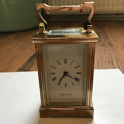 MAPPIN & WEBB Ltd Vintage Brass Carriage Clock With Keys