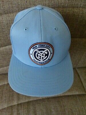 premium selection 756e3 79132 Adidas Youth Baseball Cap SnapBack MLS New York City FC Cotton Blue One Size
