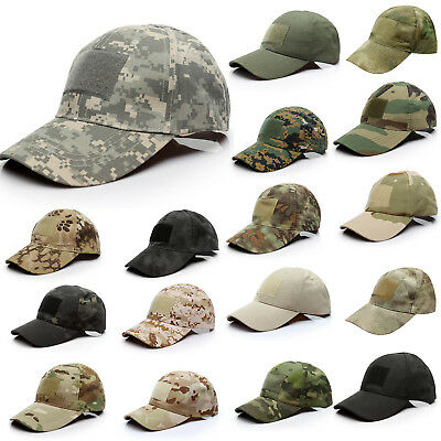 Mens Camouflage Baseball Cap Outdoor Military Tactical Operator Sport Forces Hat