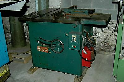 Oliver 16 inch saw HD tablesaw model 2002 rack pinion fence extension table