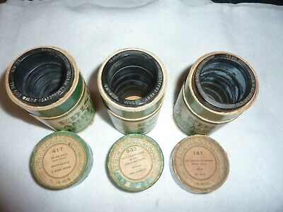 Three Edison 4m Wax Amberol Cylinder Phonograph Records 833, 417, 141 OBT