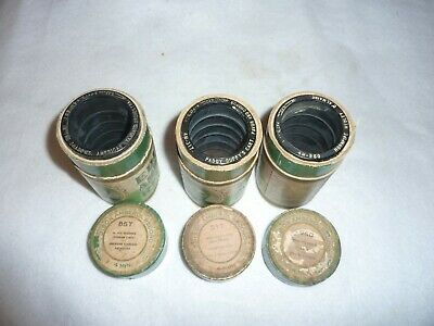 Three Edison 4m Wax Amberol Cylinder Phonograph Records 857, 960, 317 OBT