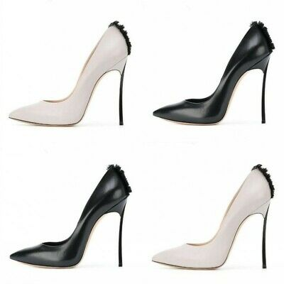 Women's Shoes Pointed Toe Pumps Slipper Stiletto Super High Heel 12CM Solid Club