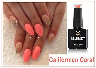 Bluesky Gel California Coral Neon Spring Summer Most Wanted shade UV LED Cured
