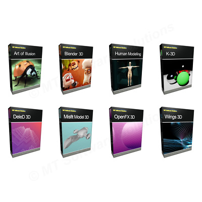 BUNDLE 2D 3D Modeling Animation Cartoon Studio Software PC Mac