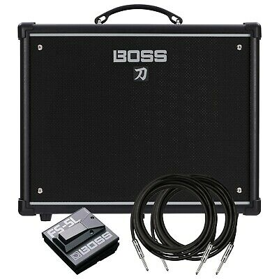 Boss Katana-50 Guitar Amplifier STAGE ESSENTIALS BUNDLE