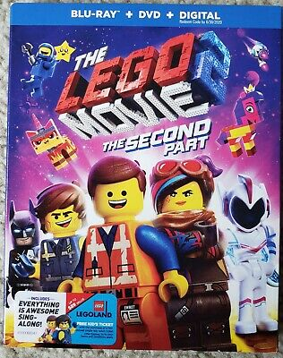 The Lego Movie 2: The Second Part Blu-ray DVD digital slipcover Brand New
