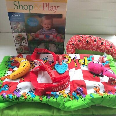 Infantino Shop and Play Shopping Cart Cover 3 in 1 Picnic Time Baby Play Mat