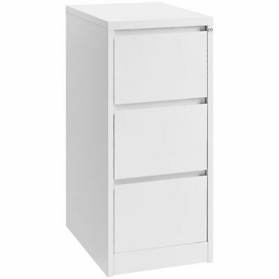 Matrix 3 Drawer Filing Cabinet White