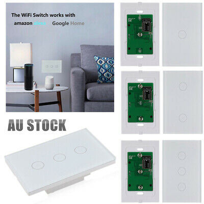 WIFI Smart Home Automation Control Touch Wall Light Switch for LED Downlight AU