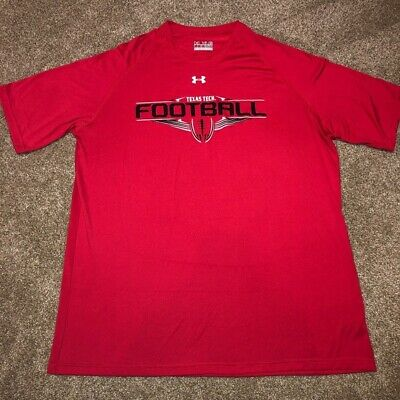 462dfa60 Texas Tech Red Raiders Football NCAA Under Armour Shirt Men's Size X-Large