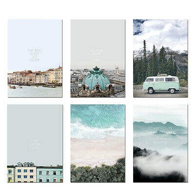 Ocean Mountain Landscape Decor Painting Wall Art Poster Oil Painting Decor 1pc