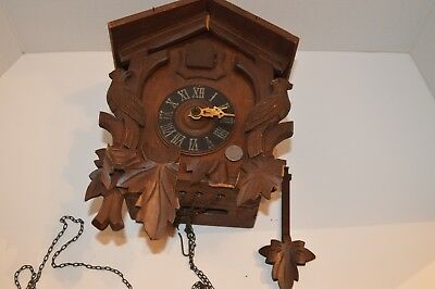 Vintage  Wood Coo Coo Clock   **For Parts Only**