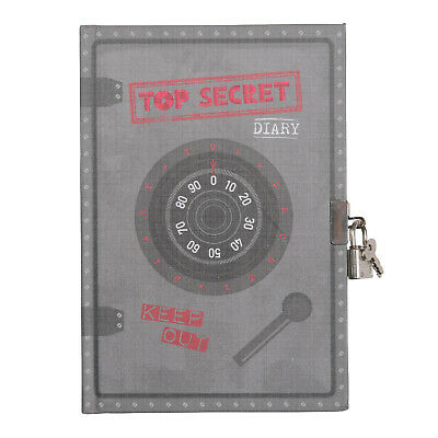 Lockable Diary for Boys or Girls,Tiger Tribe Top Secret Diary with lock and keys