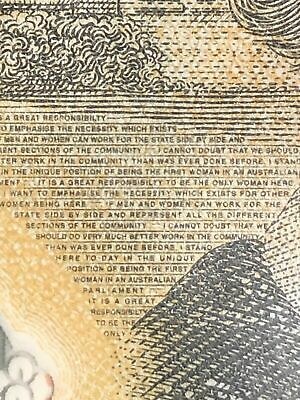 $50 2018 AUSTRALIA with spelling mistake 'responsibilty' 1 UNC Banknote