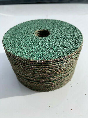 100 Pce 115mm Fibre Sanding Grinding Discs Wheels 24-120 Grit For Angle Grinder