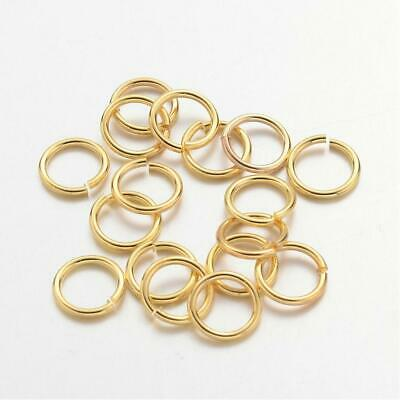 100 x 10mm Jump Rings Gold Tone Brass Craft DIY Jewellery Making Craft