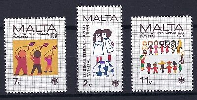 Malta 1979 Year Of The Child Sg 627-629 Mnh See Scan