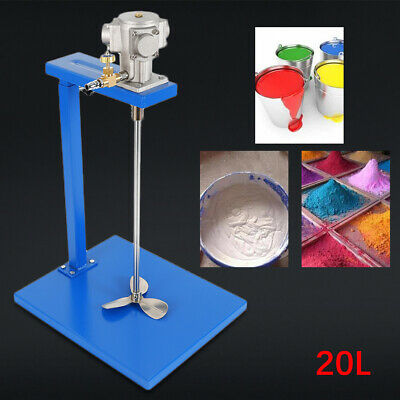 20L 1/8HP Pneumatic Paint Mixer Blender w/Stand&Shaft Ink Coating Mixing Machine